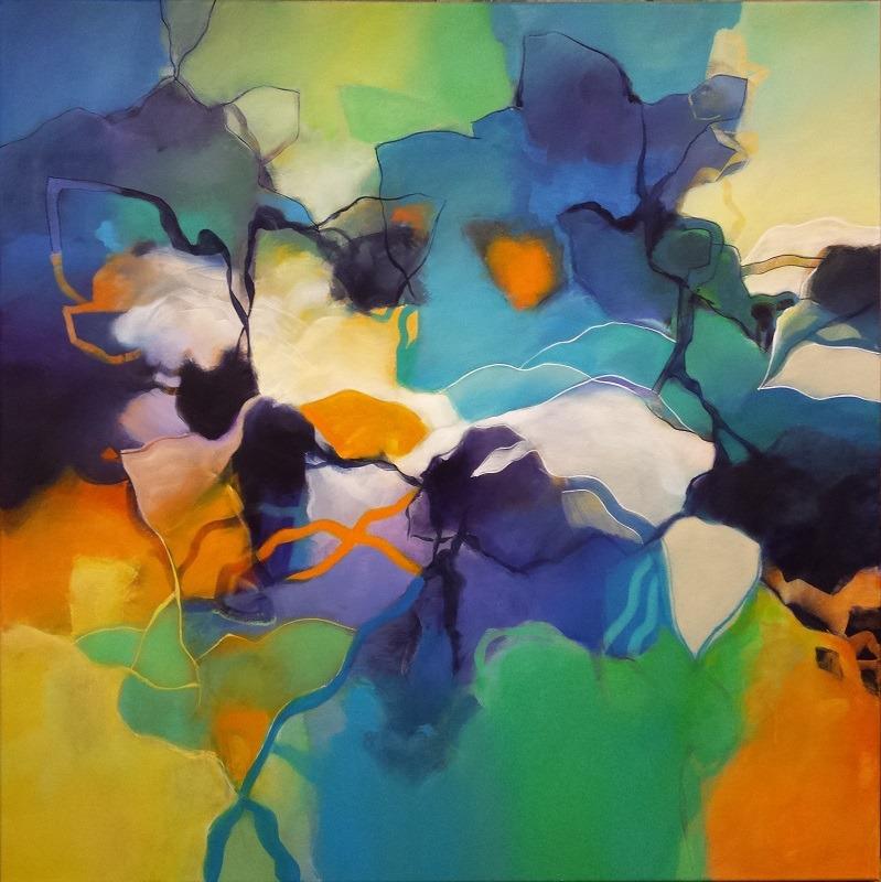 Abstract 46 100x100 Acryl op doek Bert Vernooij