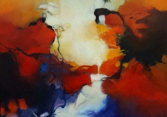 Tweeluik abstract 40A 100x140 Acryl op linnen Bert Vernooij